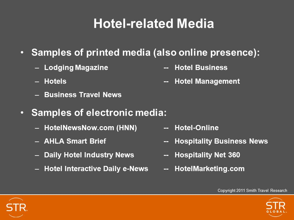 Hotel-related Media Samples of printed media (also online presence):