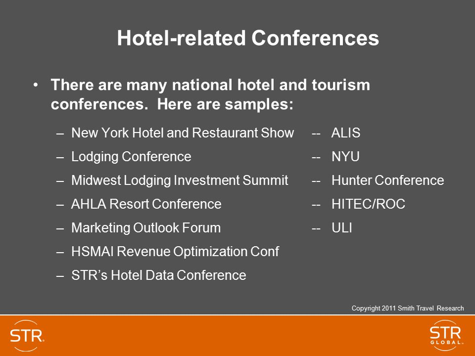 Hotel-related Conferences