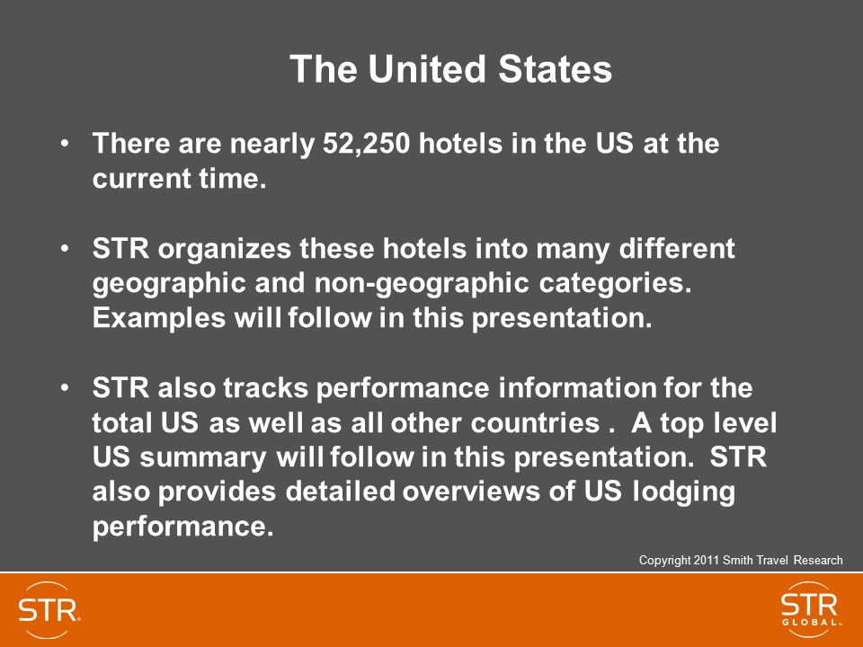 The United States There are nearly 52,250 hotels in the US at the current time.