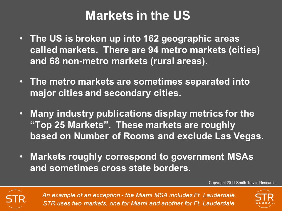 Markets in the US
