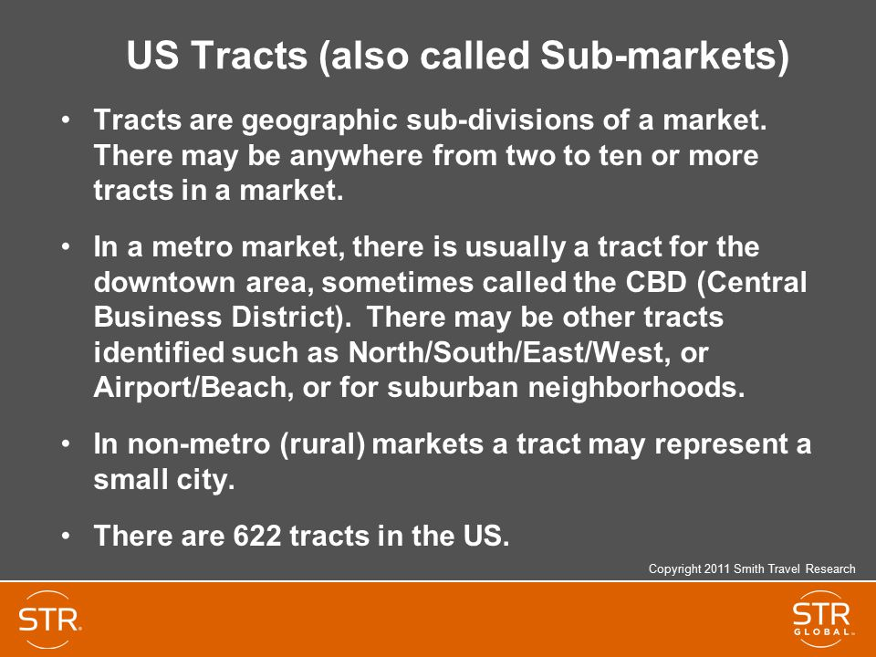 US Tracts (also called Sub-markets)