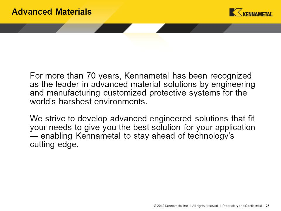 Kennametal Sintec Competence in Materials Technology