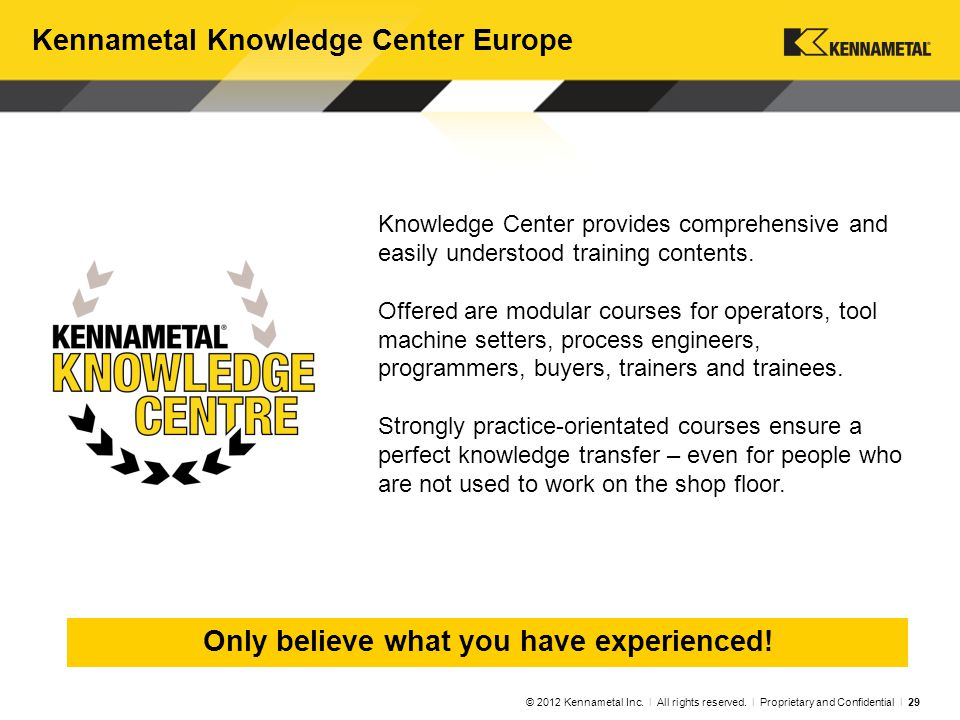 Taking Kennametal to the Next Level of Performance