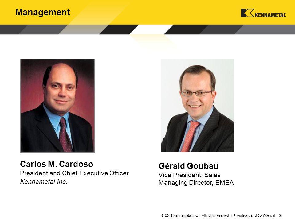 Management Carlos M. Cardoso Brian Rabe