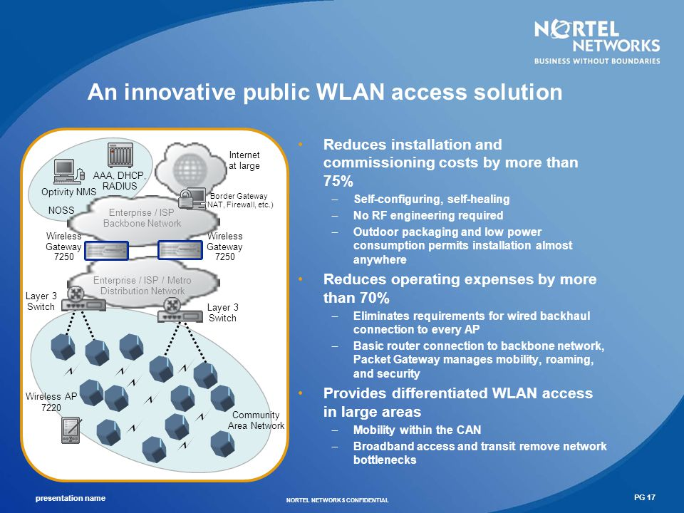An innovative public WLAN access solution