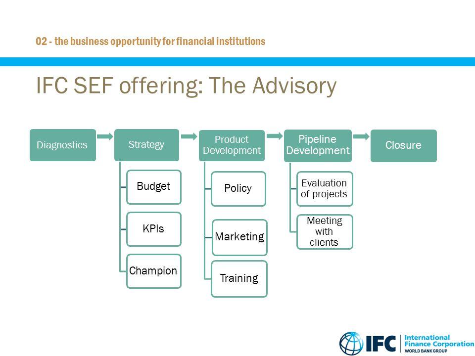 IFC SEF offering: The Advisory