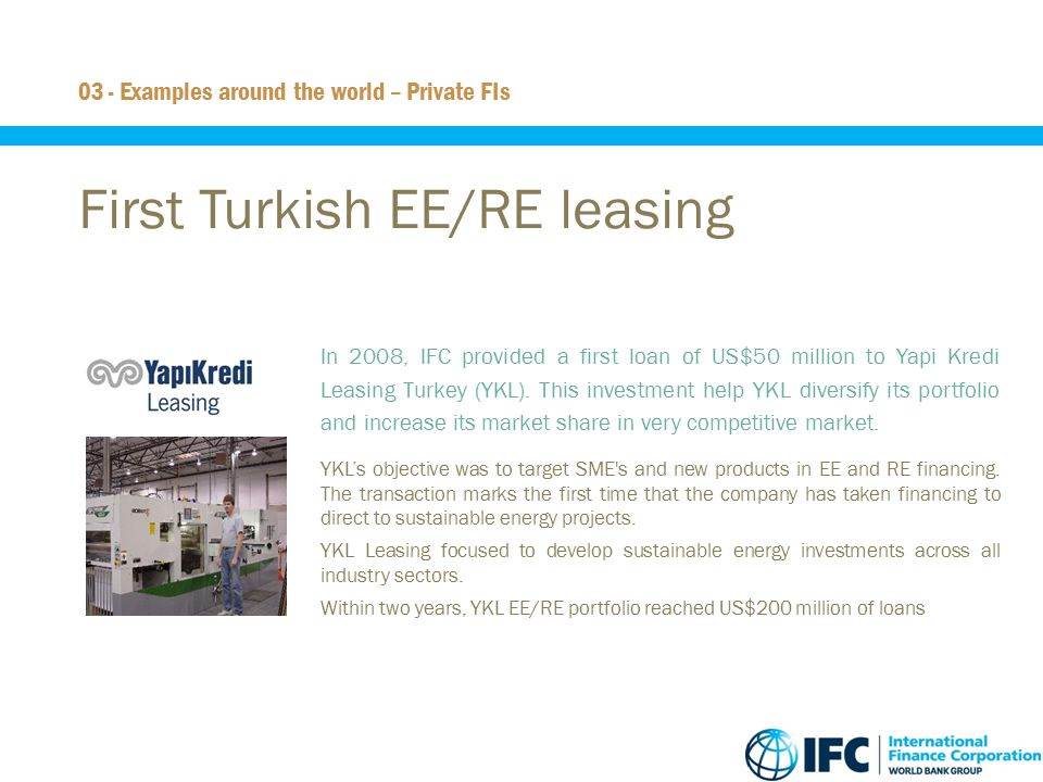 First Turkish EE/RE leasing