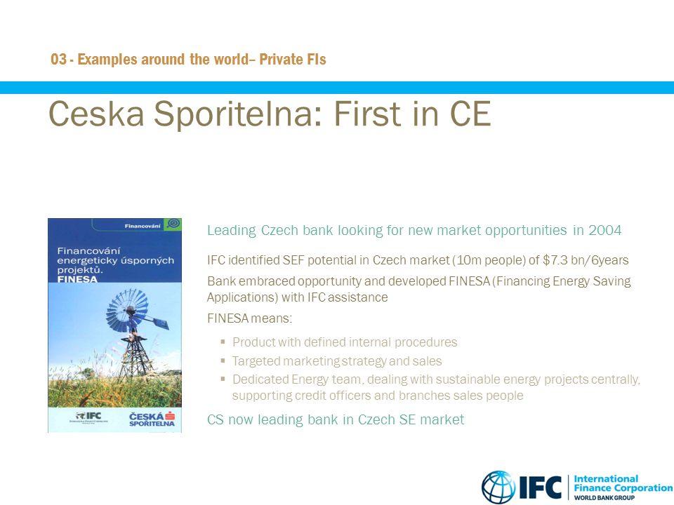 Ceska Sporitelna: First in CE