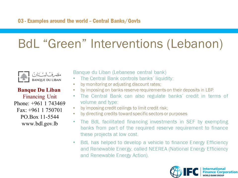 BdL Green Interventions (Lebanon)