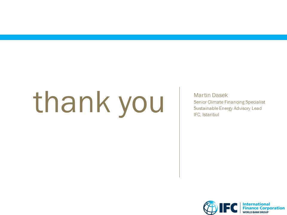 thank you Martin Dasek Senior Climate Financing Specialist