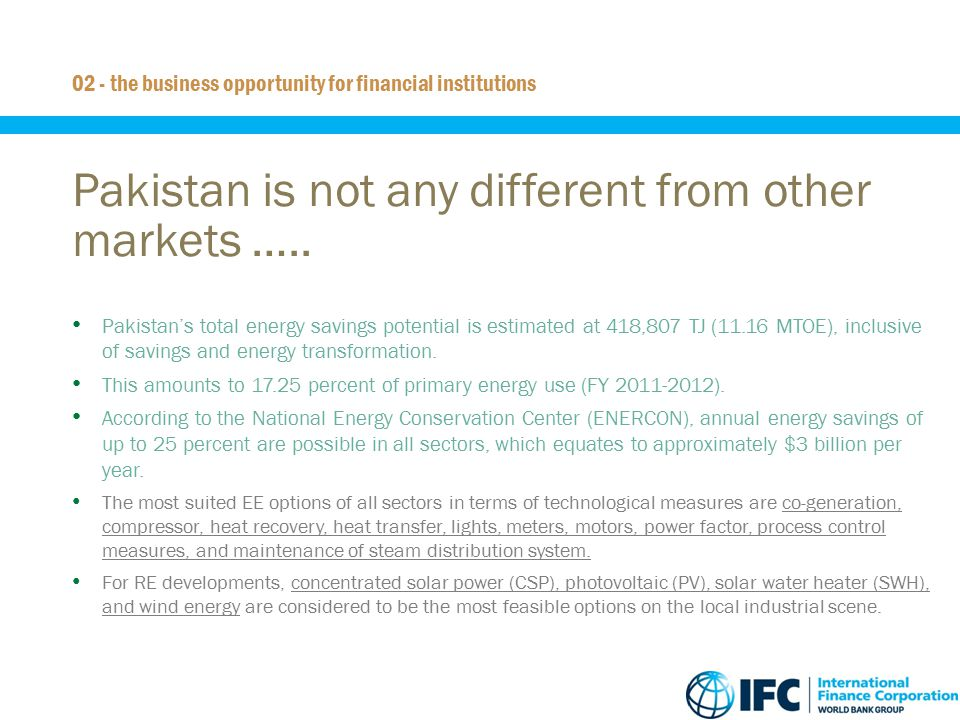 Pakistan is not any different from other markets …..