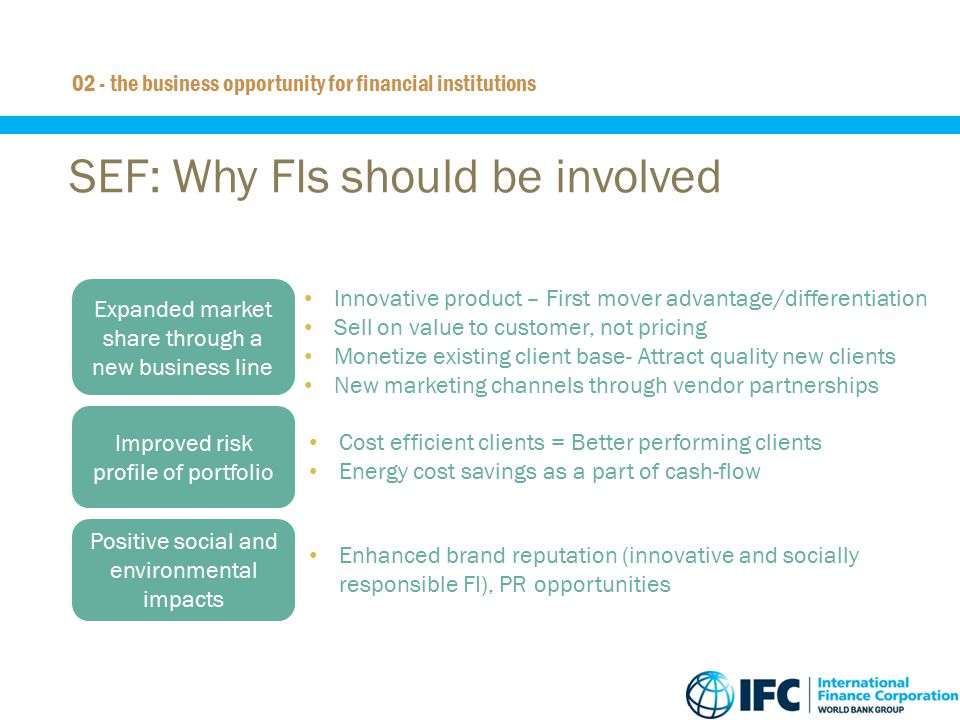 SEF: Why FIs should be involved