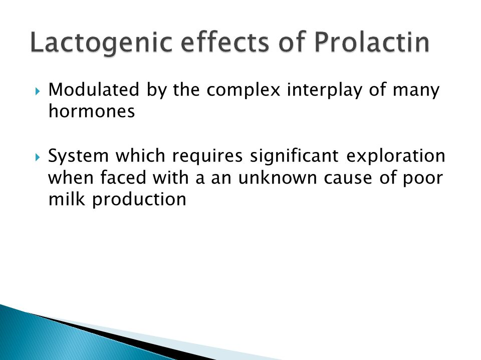 Lactogenic effects of Prolactin