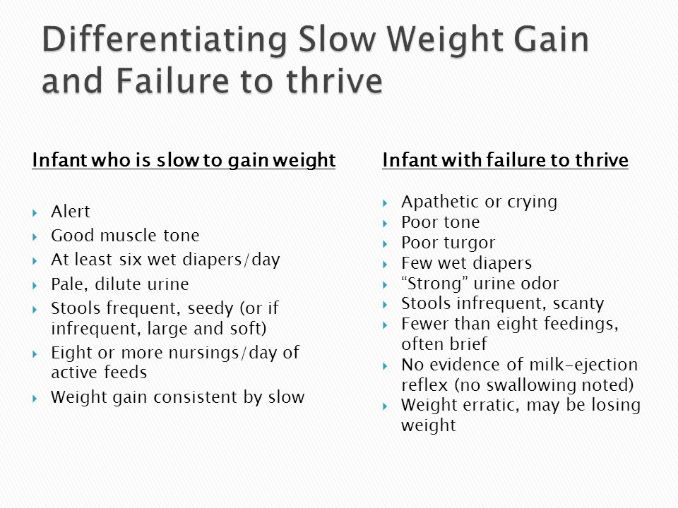 Differentiating Slow Weight Gain and Failure to thrive