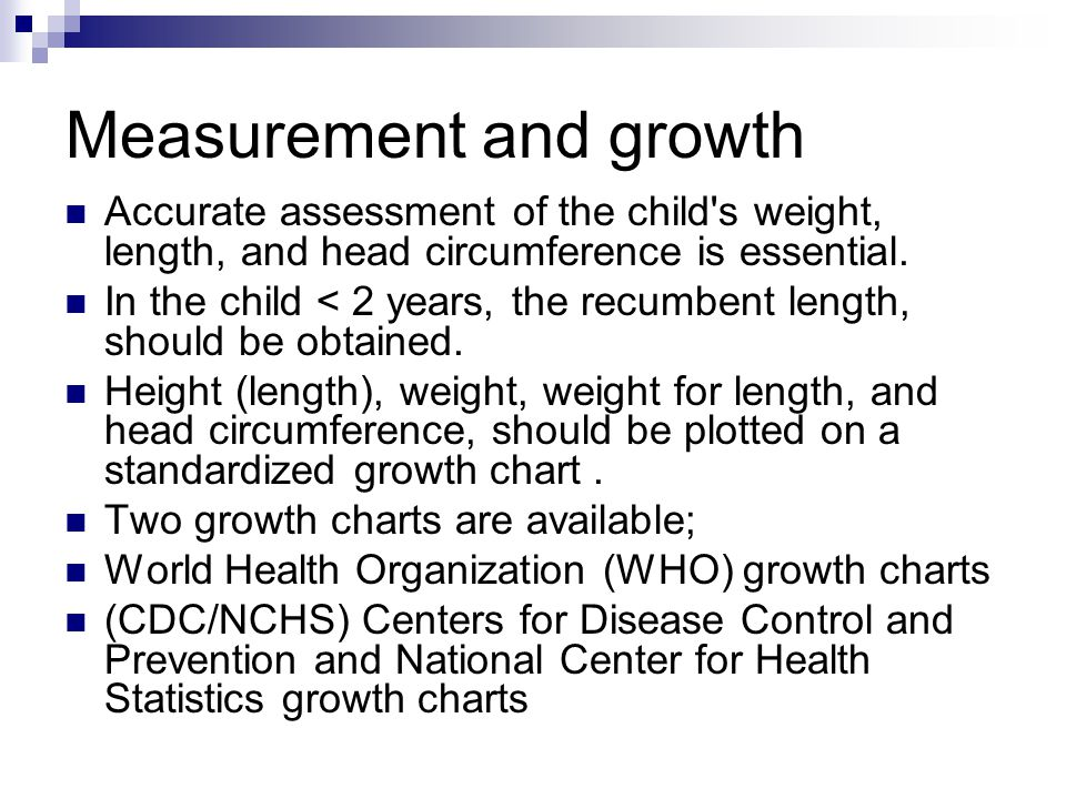 Measurement and growth