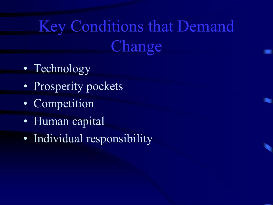 Key Conditions that Demand Change