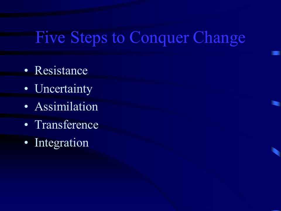 Five Steps to Conquer Change