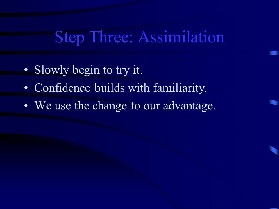 Step Three: Assimilation