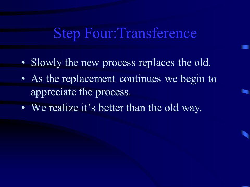 Step Four:Transference
