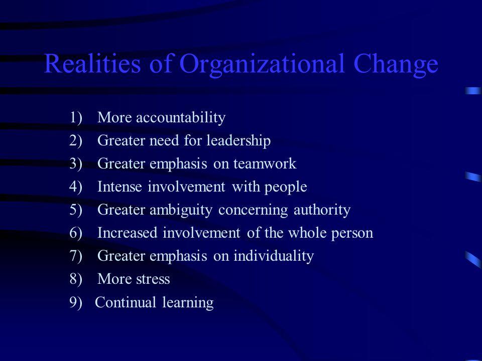 Realities of Organizational Change