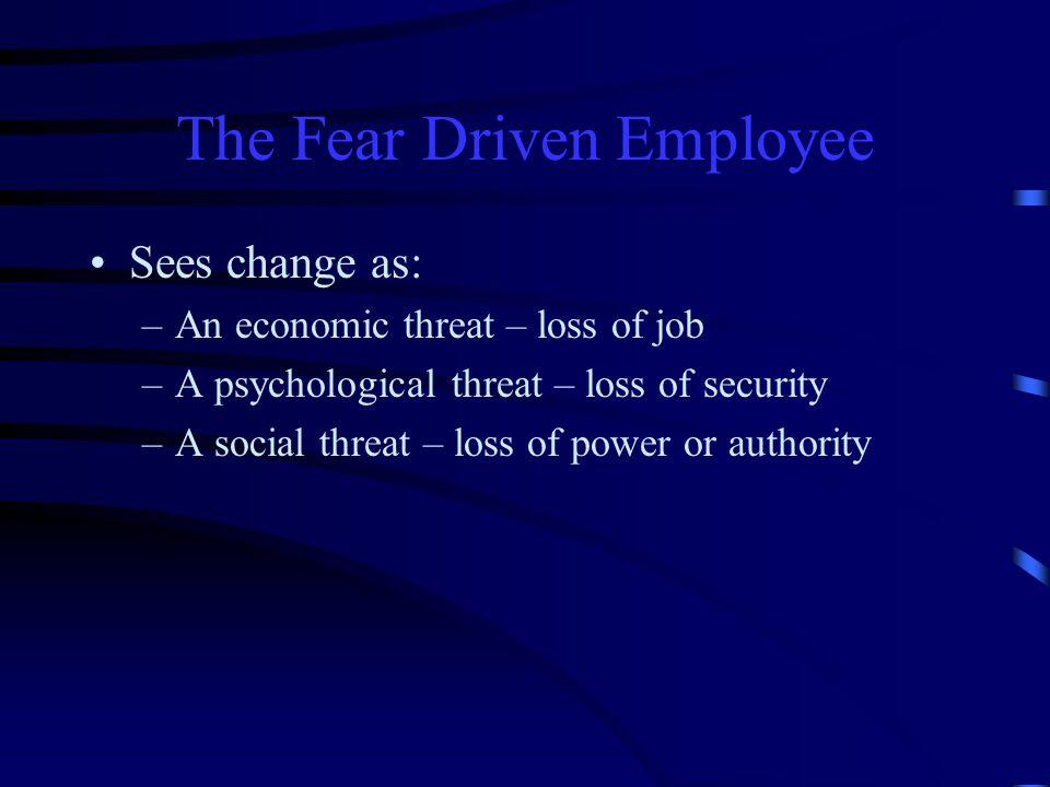 The Fear Driven Employee