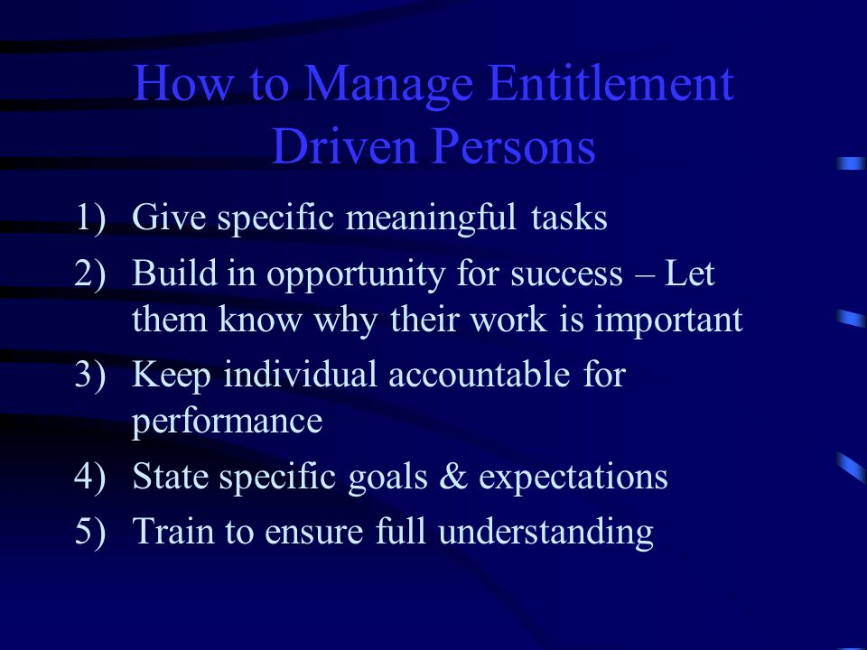 How to Manage Entitlement Driven Persons