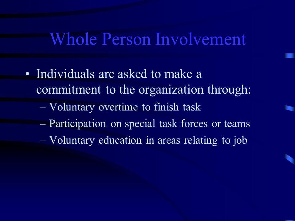 Whole Person Involvement