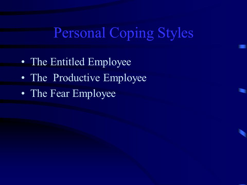 Personal Coping Styles