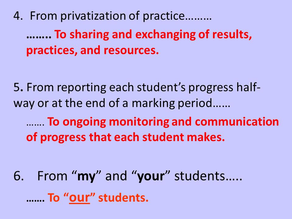 From my and your students…..