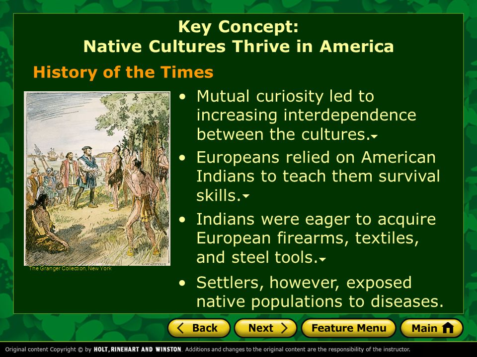 Key Concept: Native Cultures Thrive in America