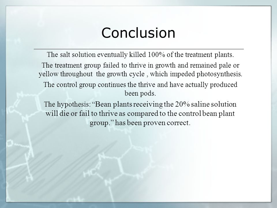 Science Fair Project Effects Of Salt Water On Plant Growth