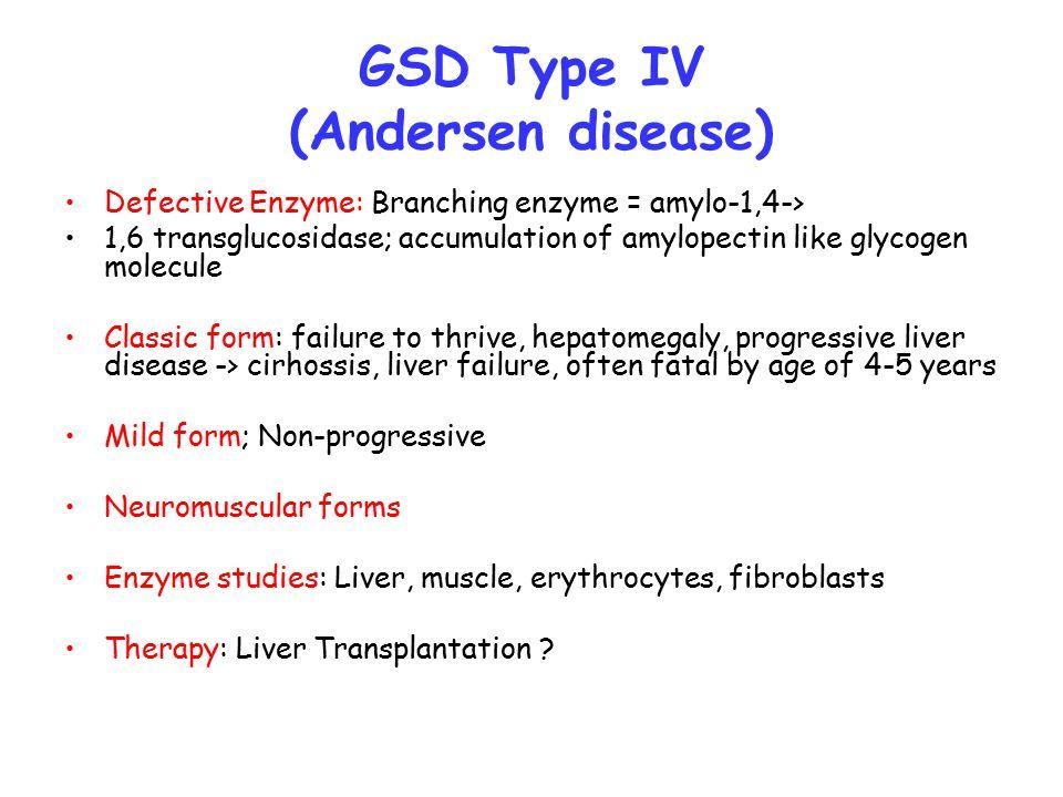 GSD Type IV (Andersen disease)