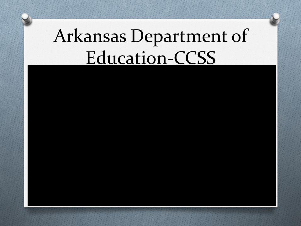 Arkansas Department of Education-CCSS