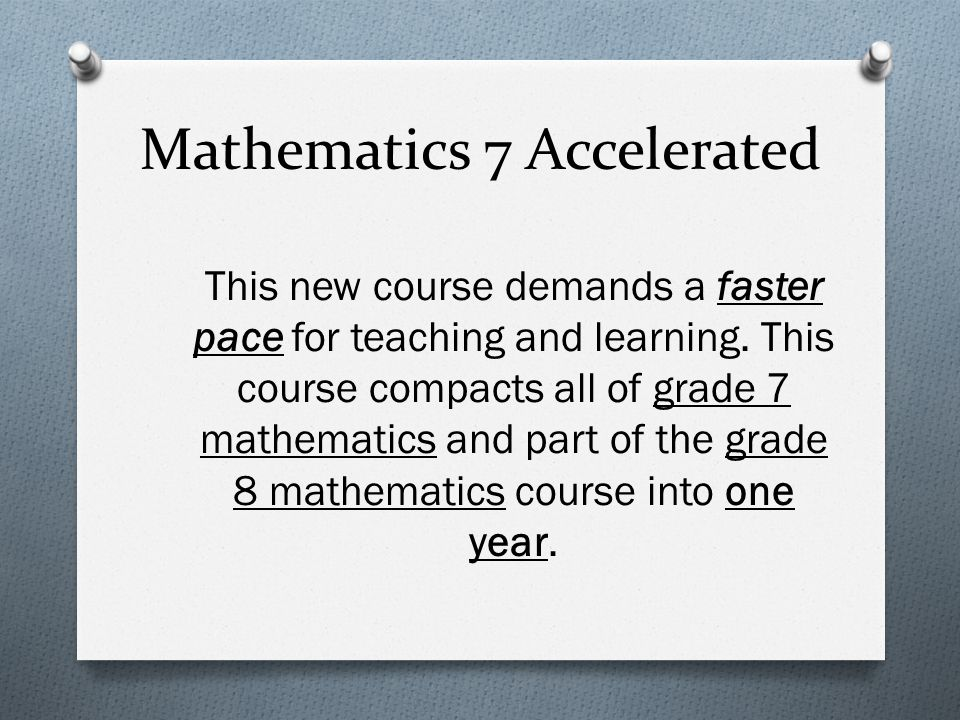 Mathematics 7 Accelerated