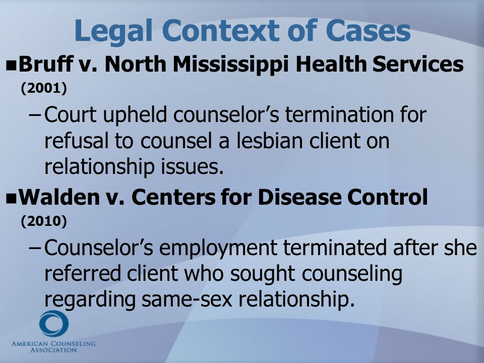 Legal Context of Cases Bruff v. North Mississippi Health Services