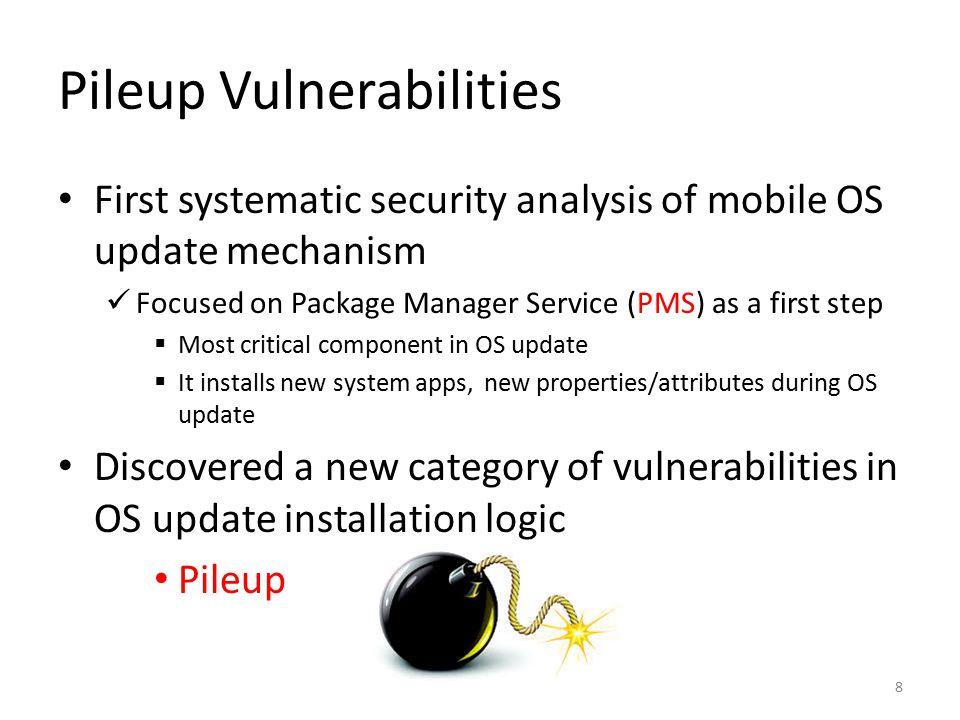 Pileup Vulnerabilities