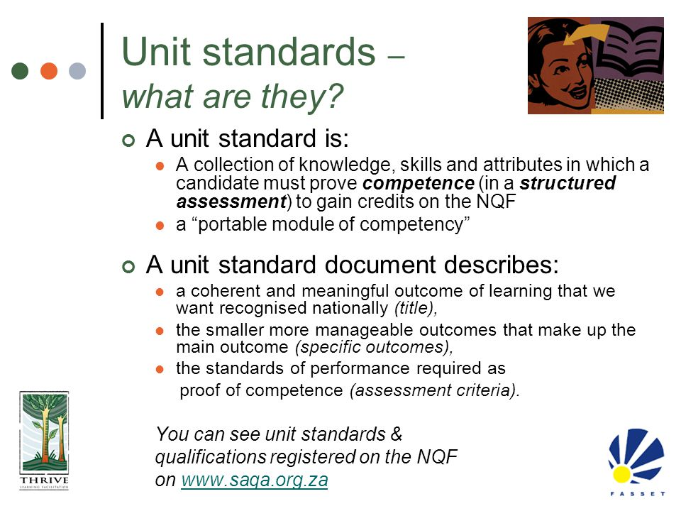 Unit standards – what are they