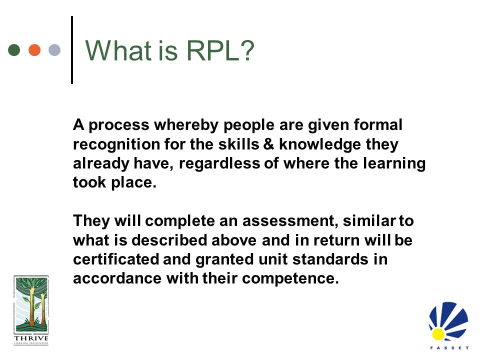 What is RPL