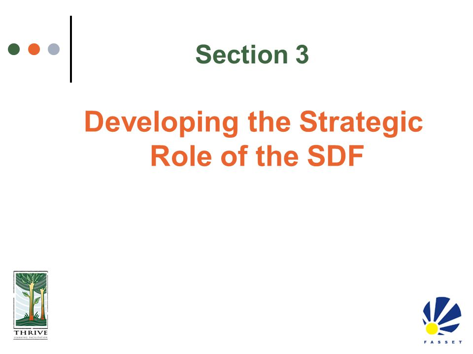 Developing the Strategic