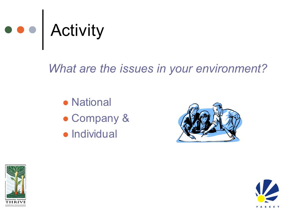 Activity What are the issues in your environment National Company &