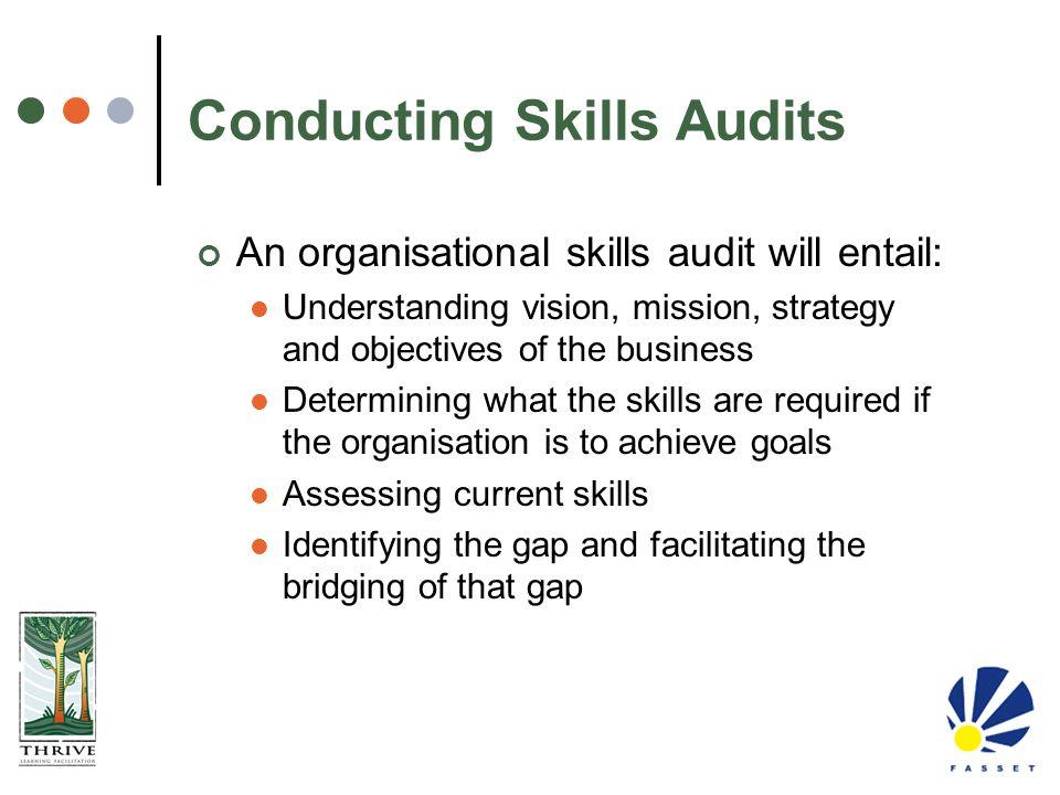 Conducting Skills Audits