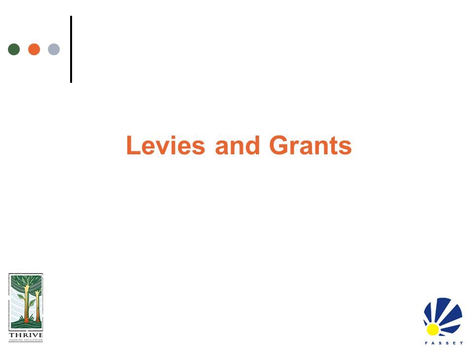 Levies and Grants