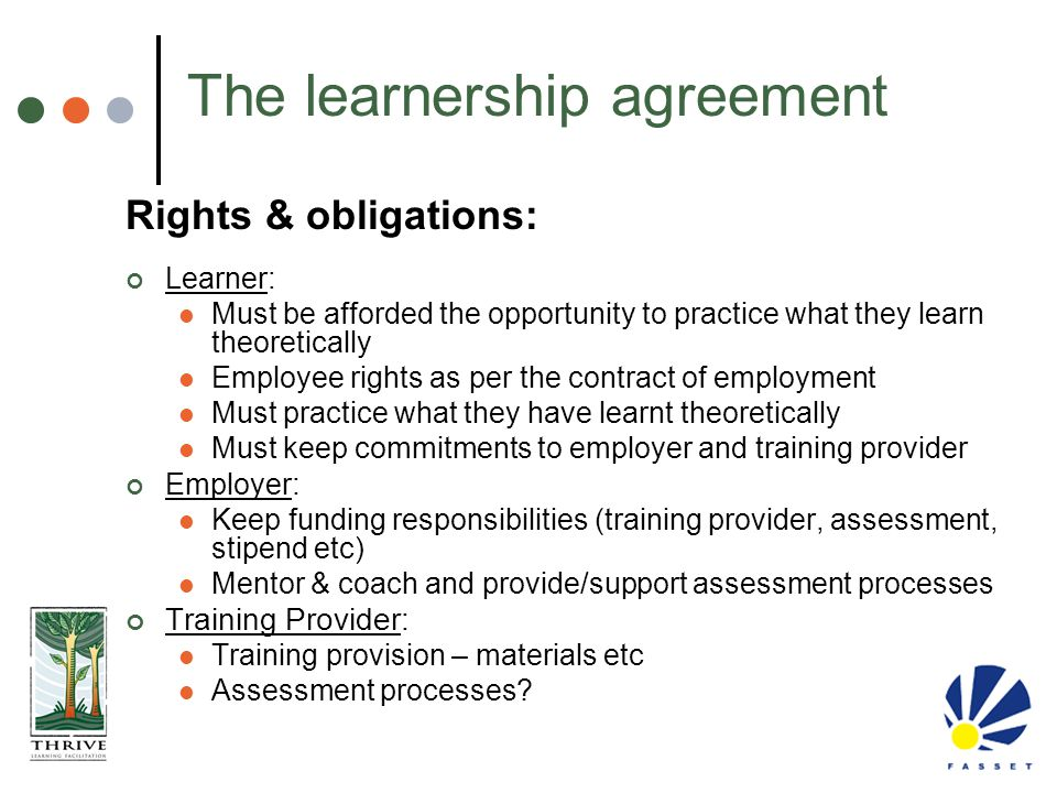 The learnership agreement