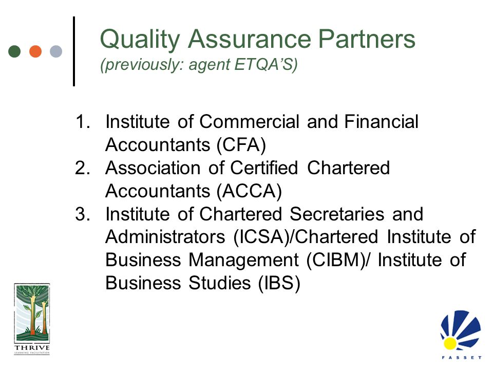 Quality Assurance Partners (previously: agent ETQA'S)
