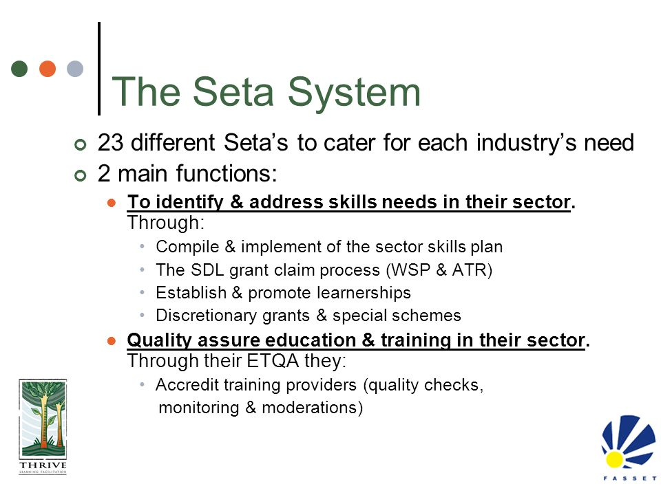 The Seta System 23 different Seta's to cater for each industry's need