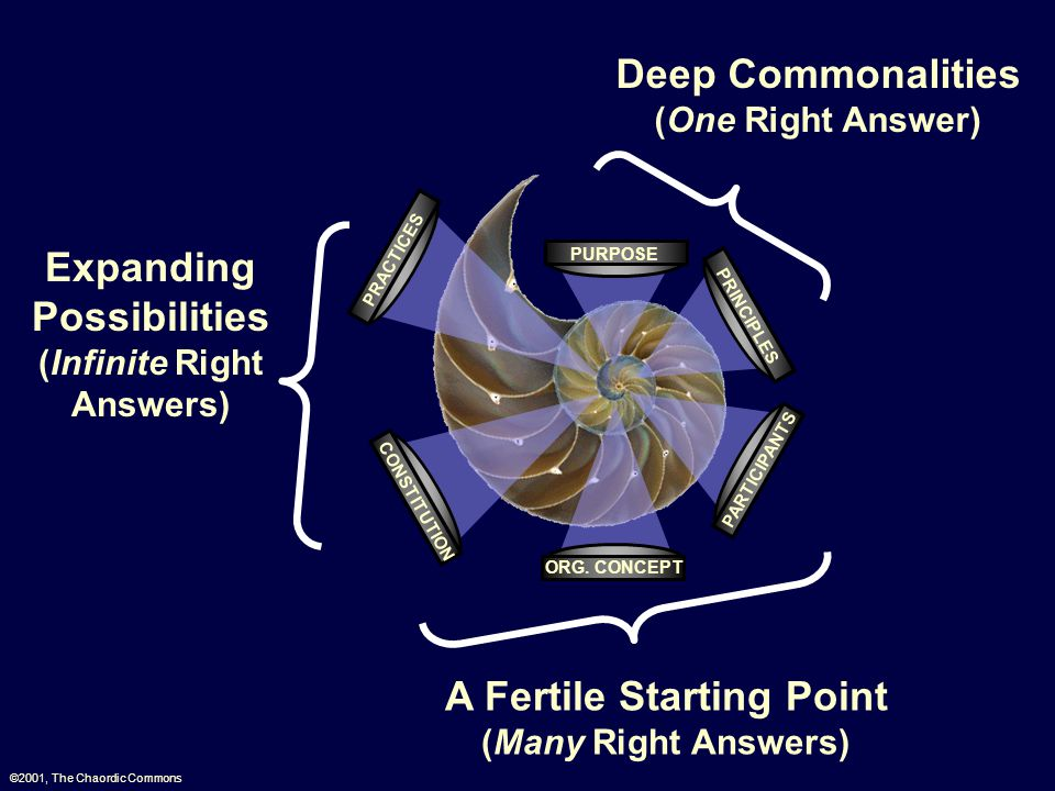 Deep Commonalities Expanding Possibilities A Fertile Starting Point