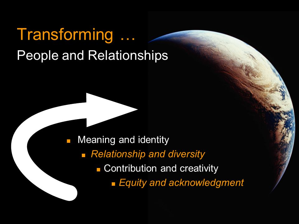 Transforming … People and Relationships