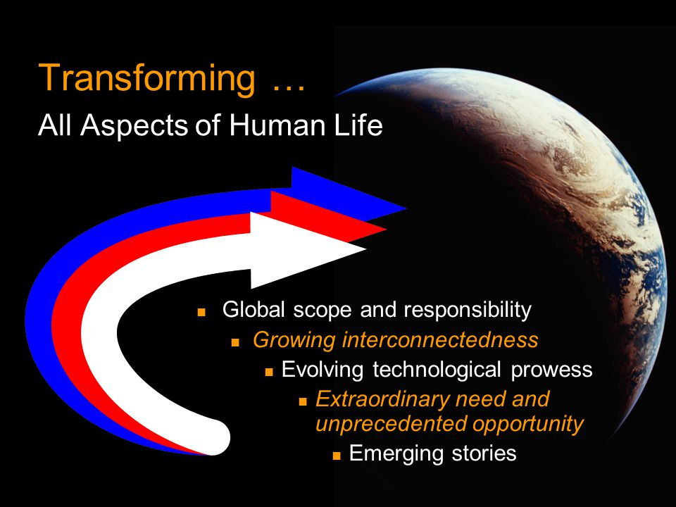 Transforming … All Aspects of Human Life