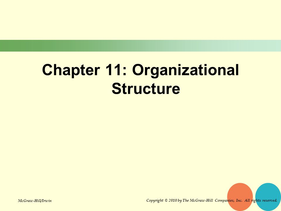 Chapter 11: Organizational Structure