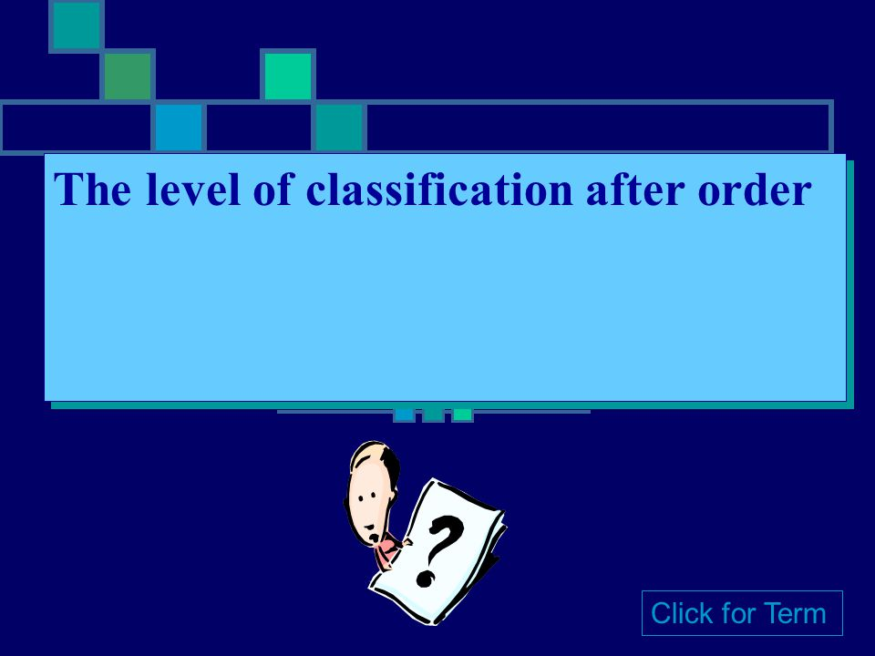 The level of classification after order